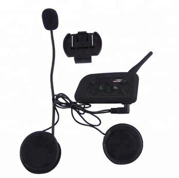 V6 1200M Motorcycle Bluetooth Helmet Intercom for 6 riders Waterproof  intercomunicador moto