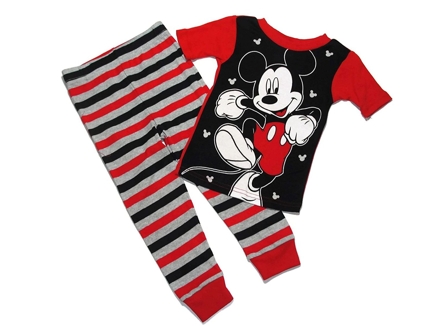 Disny Mickey Mouse Boy's Size 2T 4-Piece Graphic and Print Pajama Pants Set