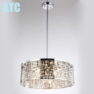 AT5506C-600 contemporary good lamp parts led K9 crystal pendant light