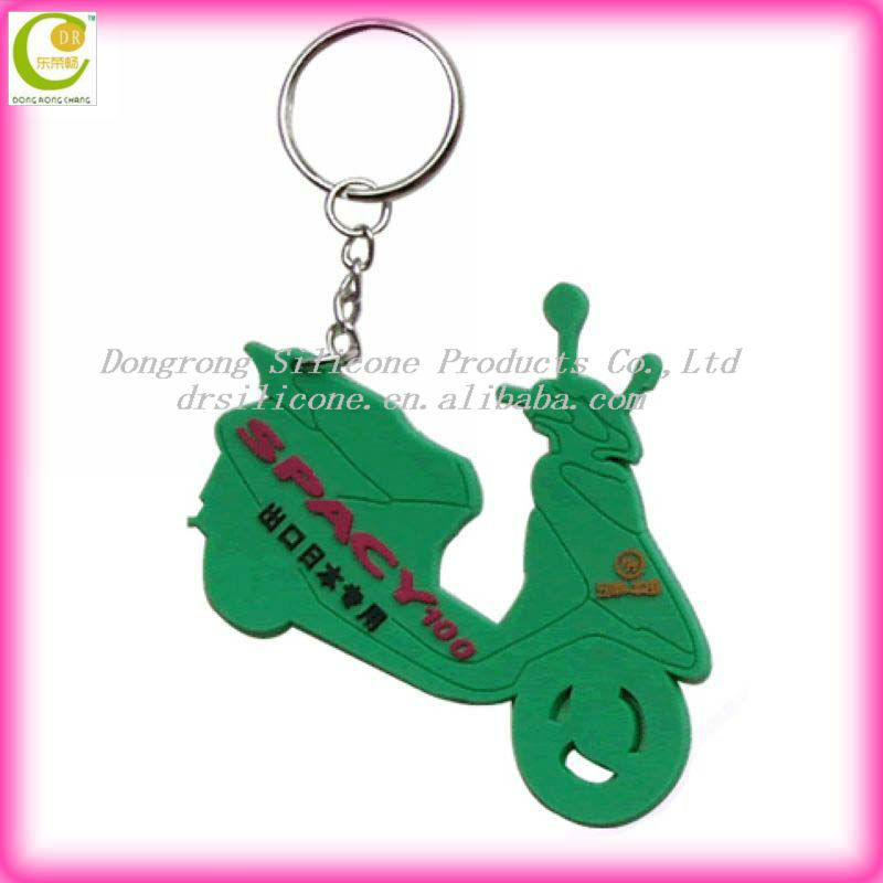 OEM and ODM popular silicone/soft pvc custom die cut keychains in various designs