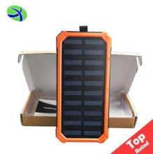 Rohs Slim Solar Power Bank 10000mah, Cell Phone USB Solar Panel Battery Charger, Power Bank Solar USB Charger for Mobile Phone