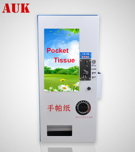 Automatic tissue condom napkin vending machine