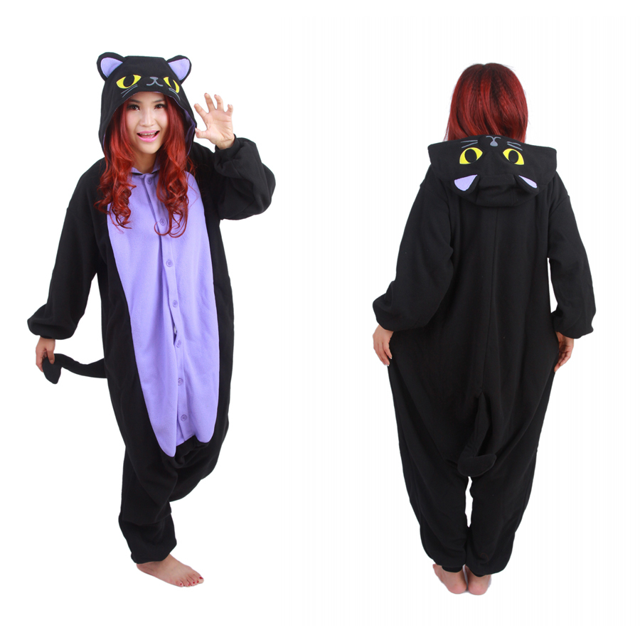 fcbf41d372 Get Quotations · Free Shipping Hot New Adult Animal Onesie The Midnight Cat  Onesie Cosplay Costume Pajamas for Sale