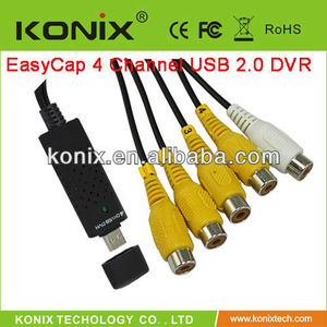 audio to usb adapter DVR CCTV Video audio capture recorder