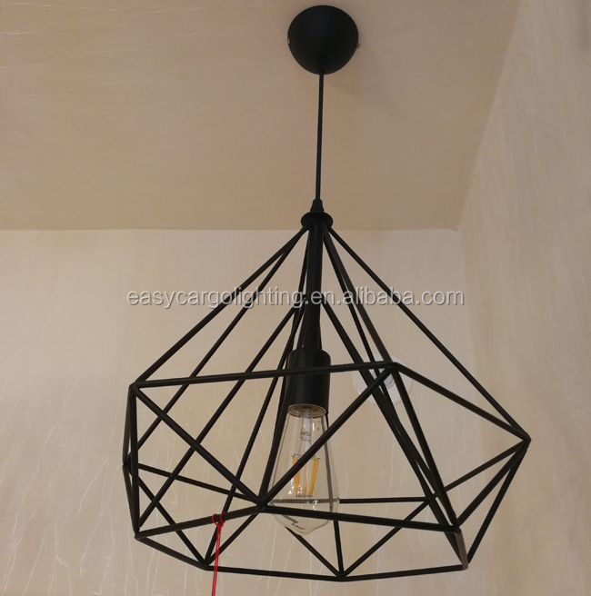 Iron Wire Pendant Light
