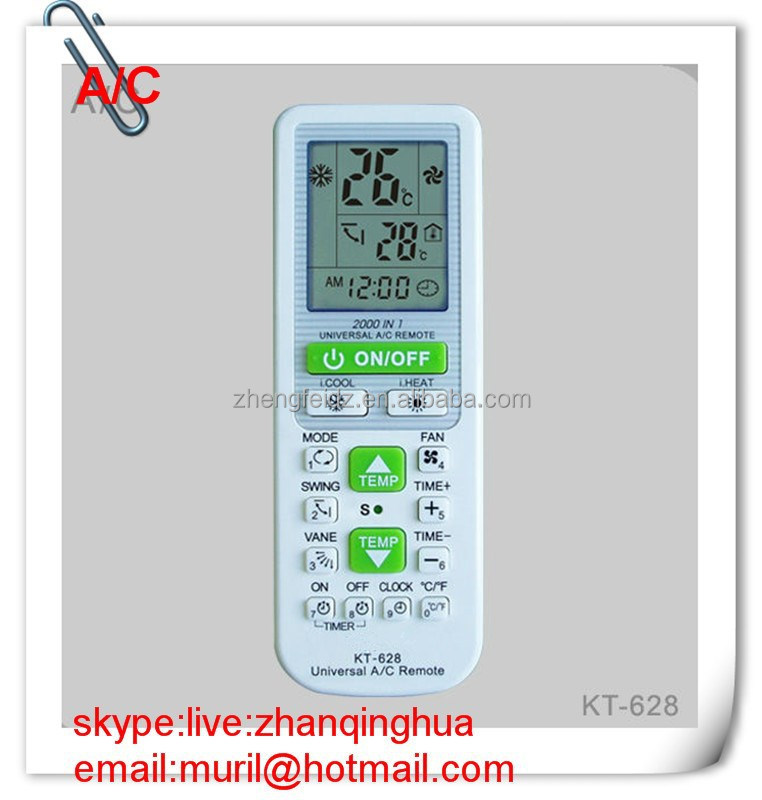 White 15 Keys Universal Air Conditioner Remote Control Kt-628 2000 ...