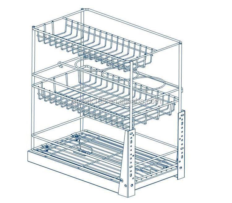 Metall Küchenschrank Draht Lagerung Ziehen Schubladen Körbe Für ...