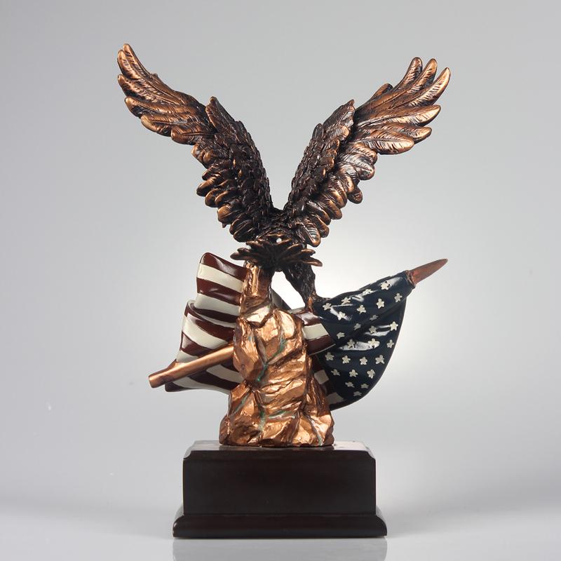 Resina americano águia animais estatueta estátua da águia