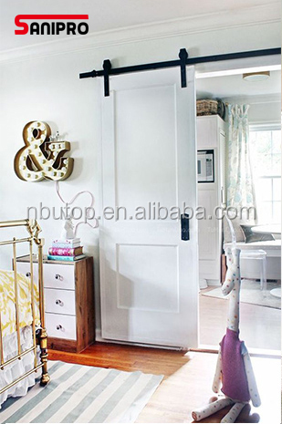 Modern double rail sliding barn door hardware kits and track accessories