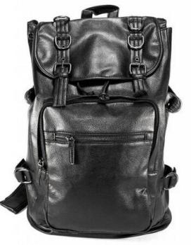 7d87c314fa Wholesale fashion custom black PU girls leather backpack bags womens  backpack