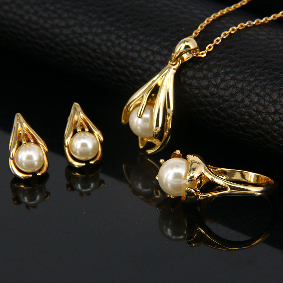 32443178bb6f Traje de joyería de moda italiano mujeres boda Dubai Pearl Africana 18 K  chapado en oro