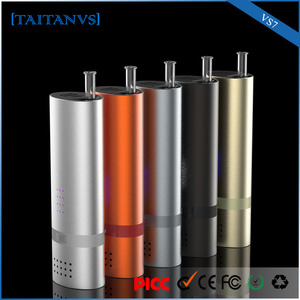 VS7 modern design glass inhaler dry heab vaporizer 18650 free herbal smoke samples