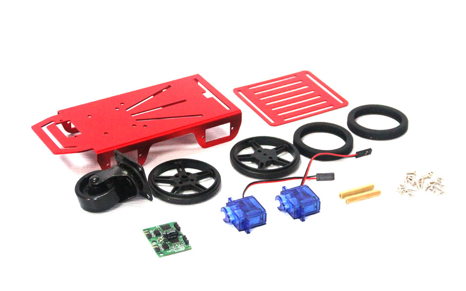 Self-Assemble raspberry pi 2WD Mini Robot Mobile Platform Kit chassis Banana Pi car chassis