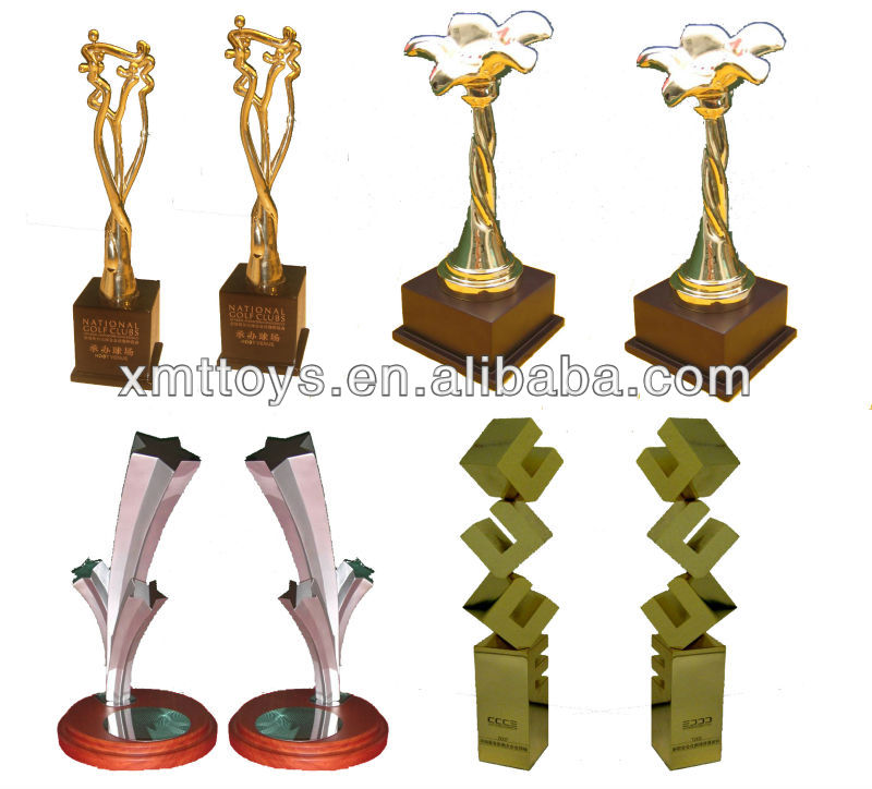 hot sale assembled trophy and trophy parts