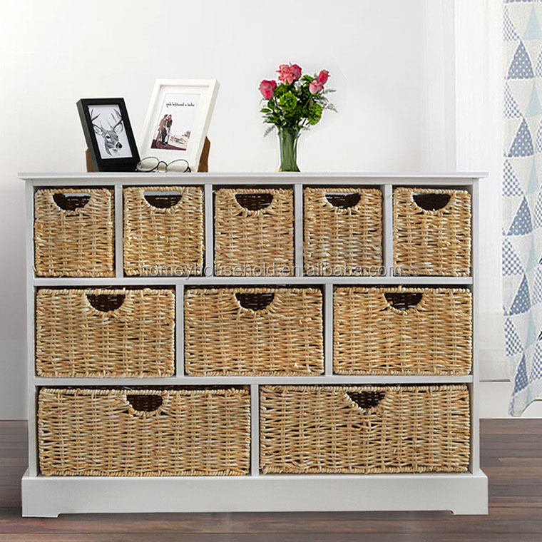 organizer acrylic drawer organizers rattan white makeup tropical storage basket wood cabinet drawers a compartment wicker tray flatware kitchen desk