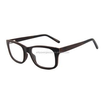 Best Prescription Optical Glasses Frames Black Wooden Reading ...