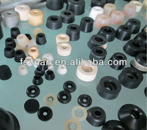 "5/8"" 3/4"" 25/32"" 1"" 1 1/4"" 1 1/2"" inch anti slip shock rubber tips for chairs internal metal washer 5/8"" thickness rubber feet"
