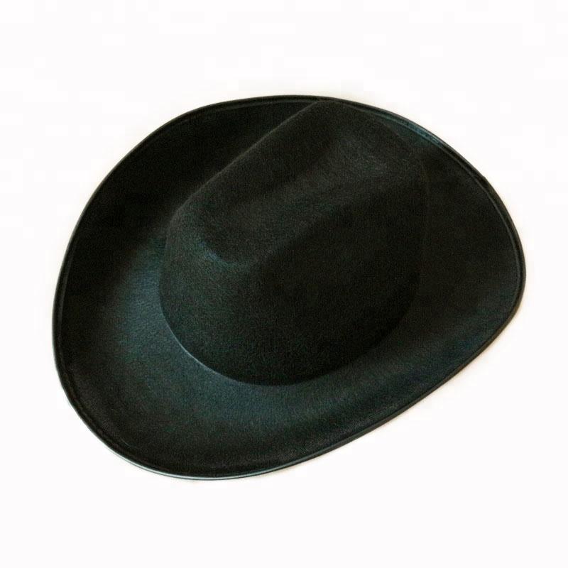 Black Wild West Men Cowboy Hat With Bound Party Hat Buy Cowboy Hat Mexican Felt Cowboy Hats Felt Black Cowboy Hat Product On Alibaba Com
