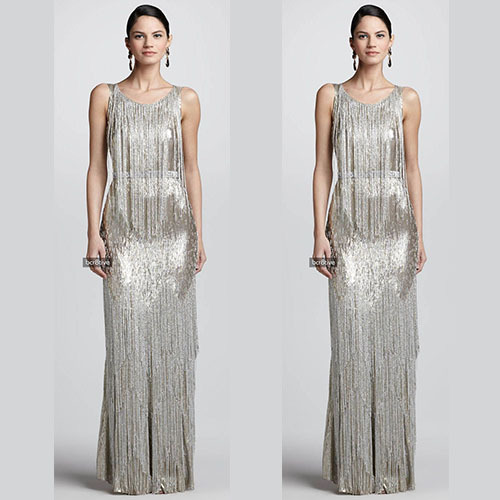 9e2c534dda7ad Haute Couture Gowns Heavy Beading Fringes Evening Dresses 2018 China ...