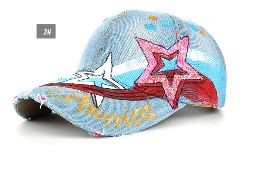 41a4ff8bc71 JOYMAY Cowboy Baseball Caps For Man And Women Hand Painted AMERICAN ...