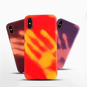 Thermal phone case for iphone x tpu case, temperature color changing case for apple iphone x cover