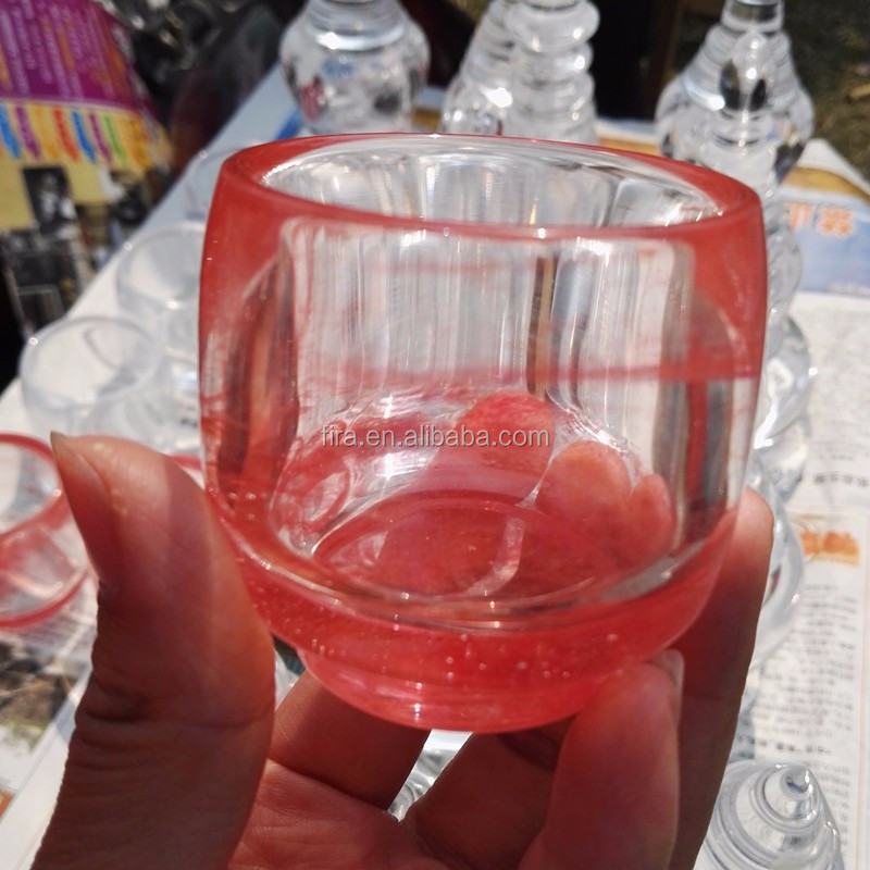 VARDY BRAND Natural Gemstone Red Smelting Stone Drinking Quartz Glass Crystal Cup For Decoration