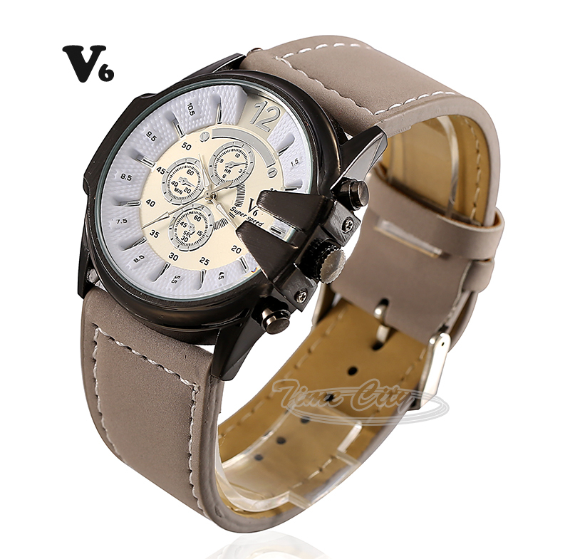 5Color 2015 Women's Quartz Wrist watches V6 Hours Sports Casual Fashion Luxury Hot Gift Leather Strap Clock Ladies Dress Watches