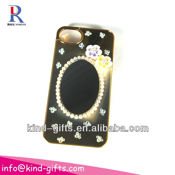 New Bling Rhinestone Mirror Case Cell Cases With Mirror