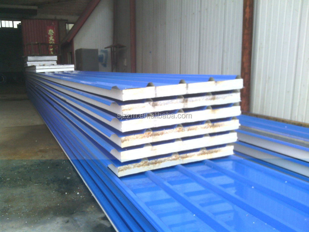 styrofoam sheets/ corrugated metal roof eps sandwich panel