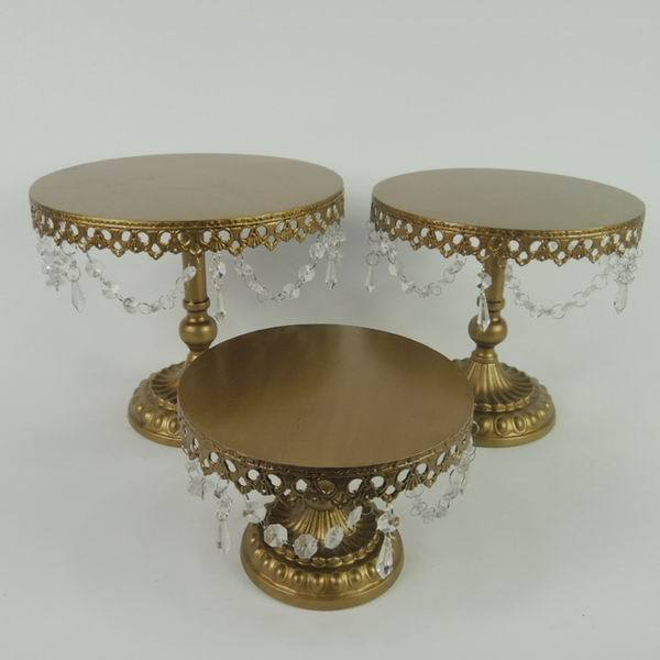 Vintage Metal Gold Wedding Cake Stand
