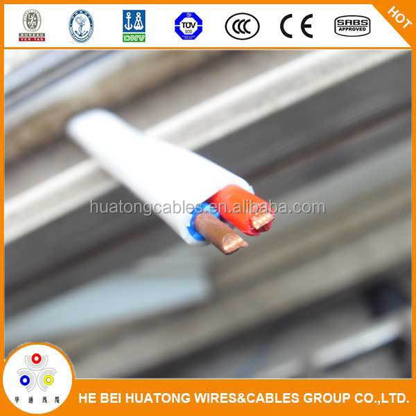 high quality copper conductor Building wire household BVVB hard flat sheath pvc insulated cable