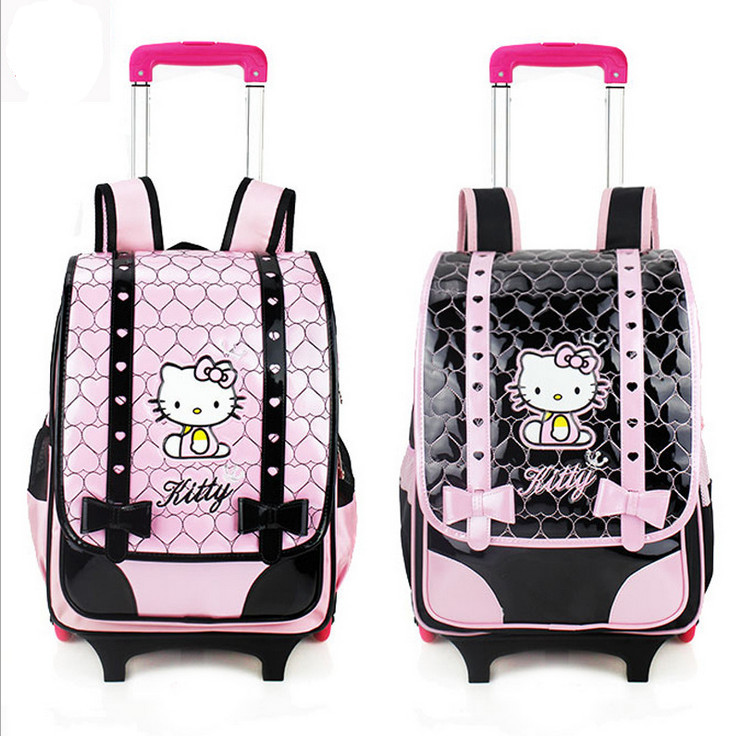 447cc552fe98 Buy 2015 High Quality Removable Children Trolley School Bags Cute Cartoon Hello  Kitty 6 Wheels Backpacks Bags for 3-6 Grade Girls in Cheap Price on ...