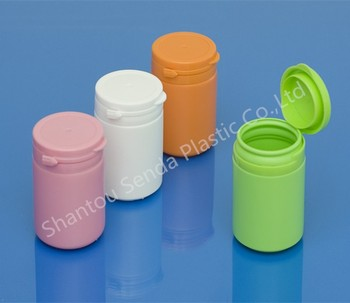Plastic Pill ContainerMedicine Plastic Bottle With Snap Secure Easy