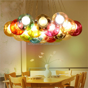 Christmas Lighting Colorful Cluster Modern Glass Ball Chandelier