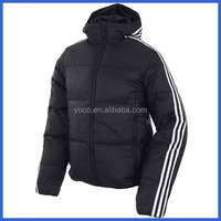 Heavy weight striped quilted winter coat