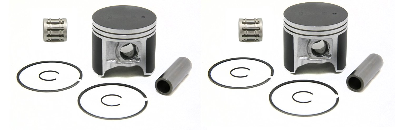 SPI, (2)09-609(2)WC-09606, 2 Pistons & Bearings Arctic Cat ZR600, ZL600, Mountain Cat 600, Pantera 600 & Powder Special 600 Standard Bore 78mm