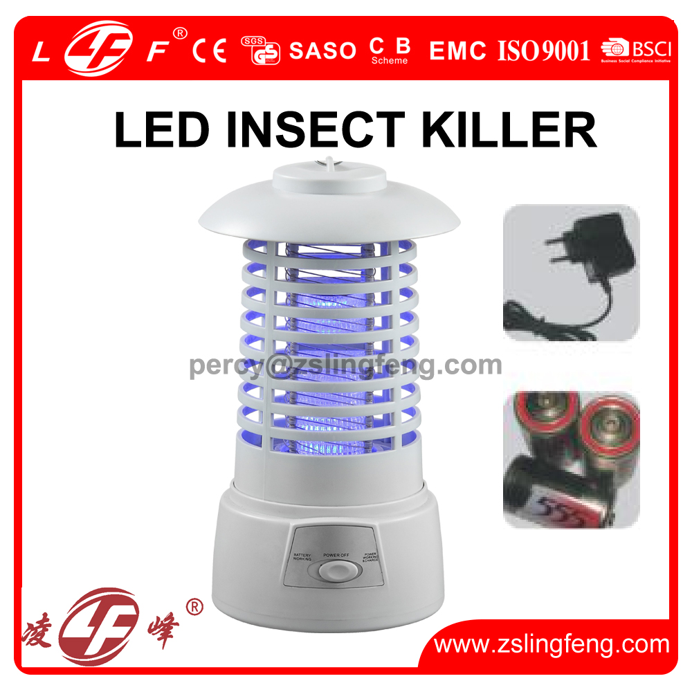 battery LED insect killer led mosquito killer electric mosquito killer with 12V adapter
