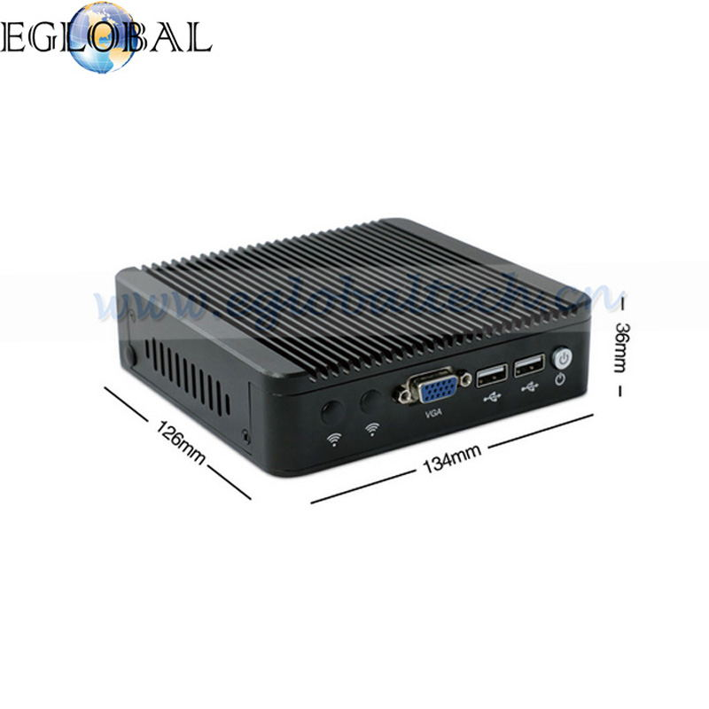 Fanless Mini <strong>PC</strong> Intel Celeron j1900 EGLOBAL Fanless Industrial Mini Computer <strong>PC</strong> 4 LAN VGA USB Watchdog WiFi Windows 7 Small Thin
