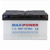dry charged auto battery car battery DIN88 12V88AH MAXIPOWER