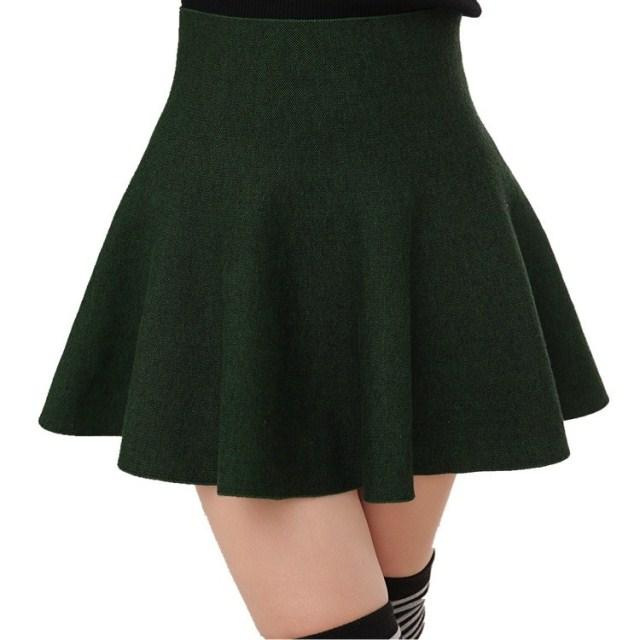 7b8b2a08ca Get Quotations · 2014 knitted short skirt spring short skirt bust skirt  puff skirt high waist skirt plus size