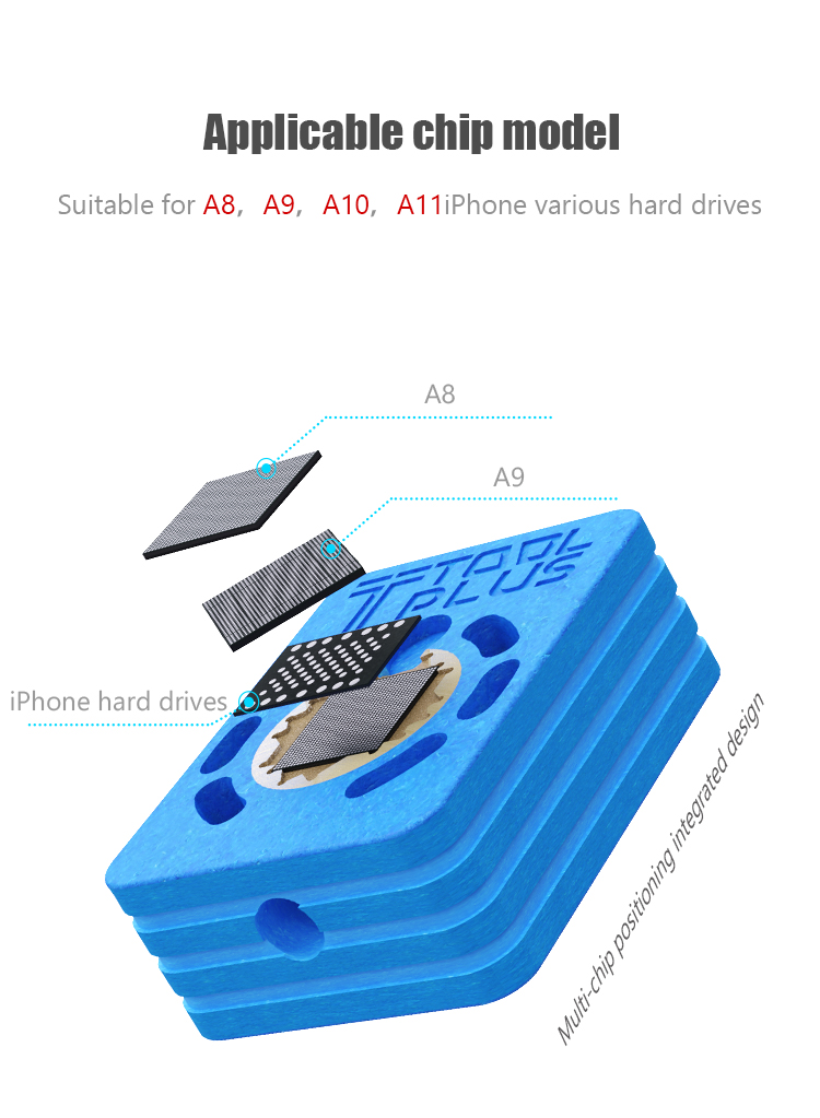 QianLi HOT BAT original TOOLPLUS LP550 heating platform for iPhone series and univerzal CPU hard disks