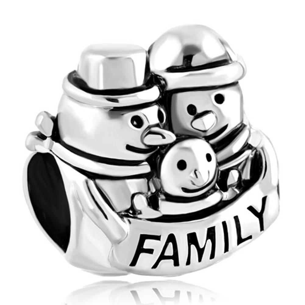 Buy Christmas Gift Snowman Family Mom Baby Dad Love Charm Sale Cheap ...