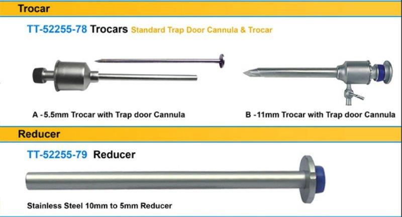 Set Of Laparoscopic Trocar 5mm & 10mm With Cannula