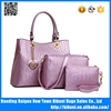 Luxury high quality good design lady handbags elegance cheap PU women 3 pcs bags set hand bag shoulder bag purse