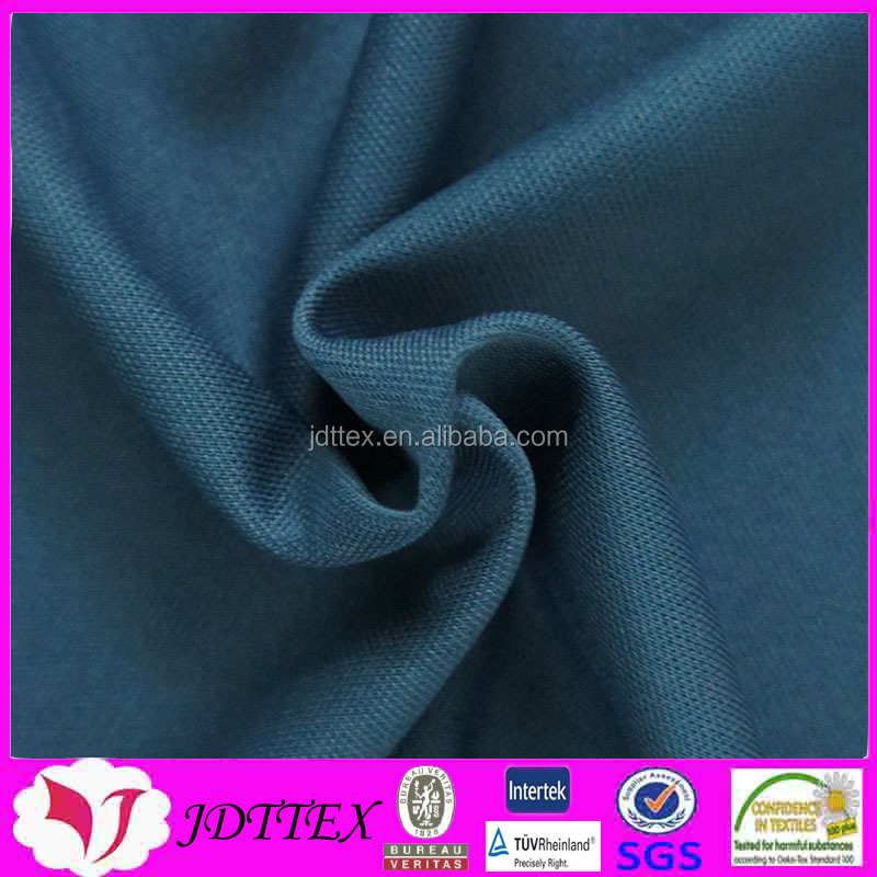 100% polyester double tricot warp knitted long jersey fabric