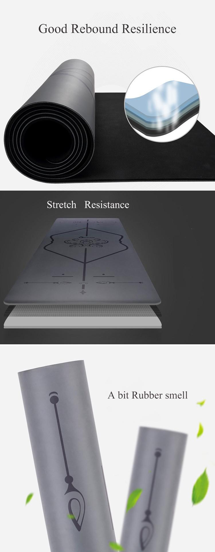 5mm Eco Friendly Non Slip Custom Made Natural PU Rubber Yoga Mat