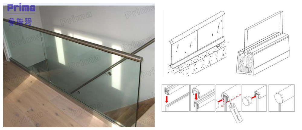 Customized U Channel Glass Balustrade Aluminum Glass Shoes Buy