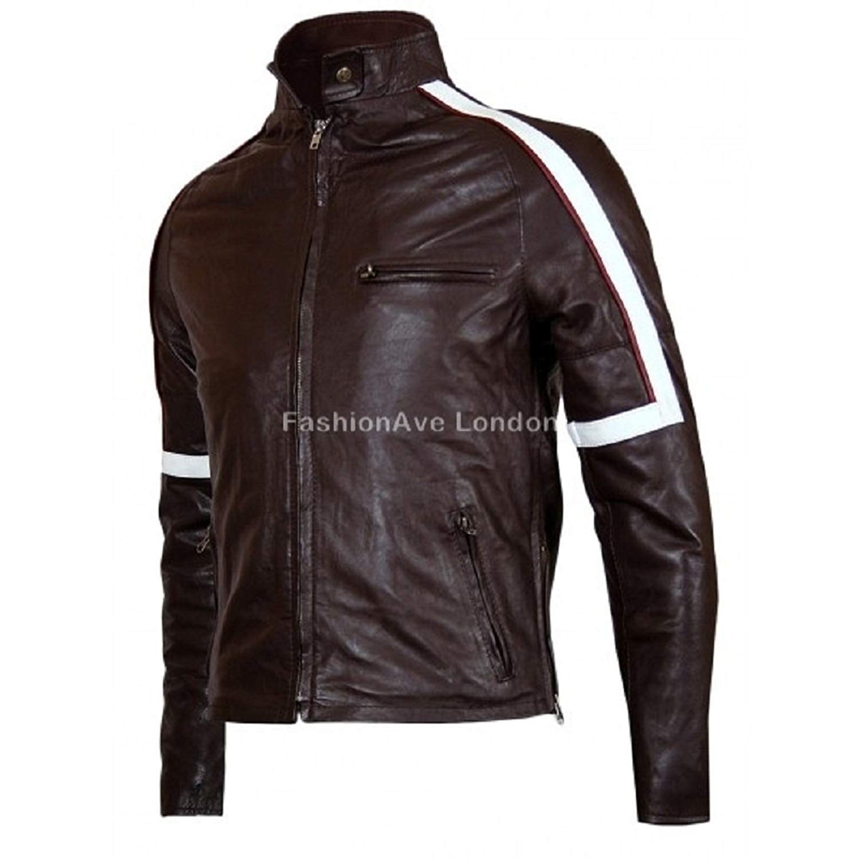 FashionAve Mens Real Leather Jacket Tom Cruise War of The World Movie Jacket