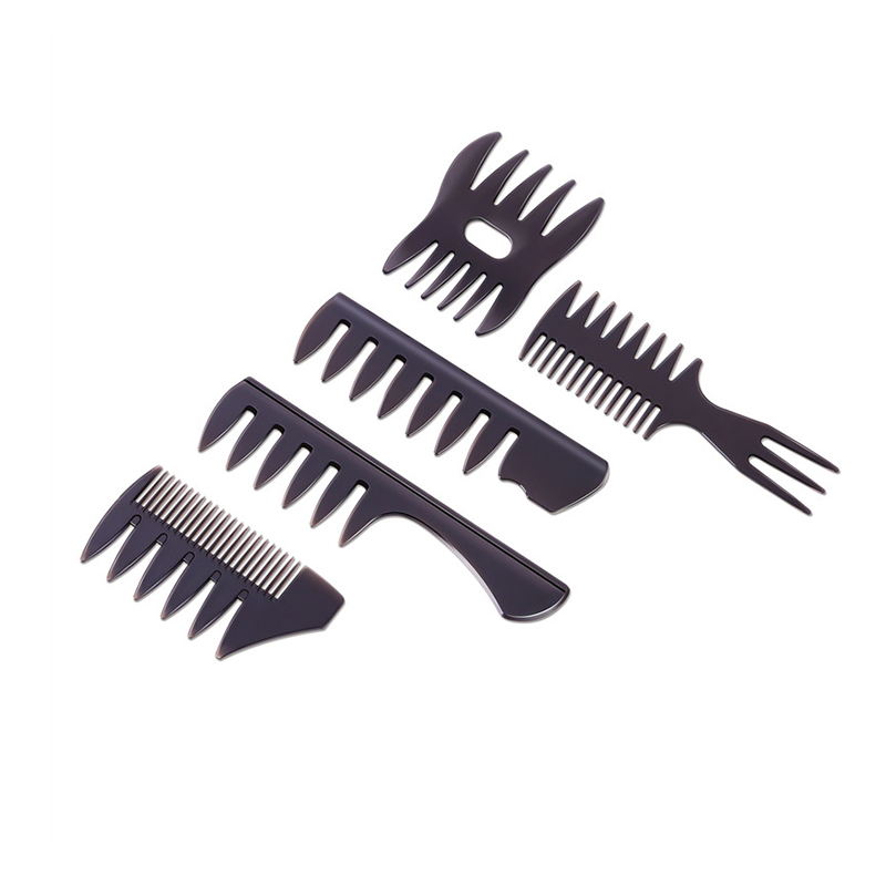 Wholesale Hair Styling Tools New Style Barber Designer Hair Comb Wide Narrow Tooth Plastic Combs for Men