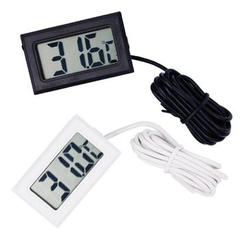Digital LCD Probe Fridge Freezer Thermometer Thermograph Meter for Refrigerator 110C ( Black / White ) 14%off